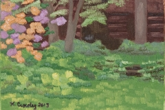 """Waukeena Preserve Flowers"", oil on canvas panel, 5 in x 7 in, 2013, $175+tax"