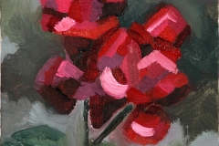 """Roses"", oil on canvas panel, 7 in x 5 in, 2011, $175+tax"